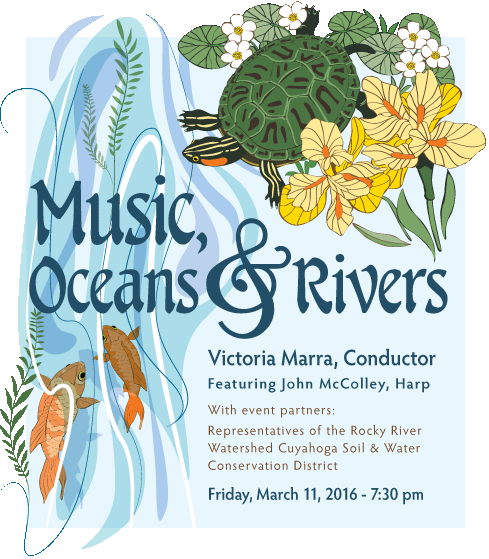 Symphony West March 11, 2016 Concert Music, Oceans and Rivers