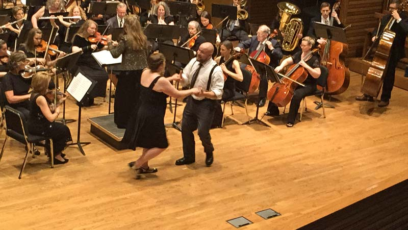 Swing Dancing at the June, 2015 Concert