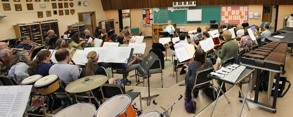Symphony West Rehearsal, Spring 2013, North Olmsted Middle School Band Room